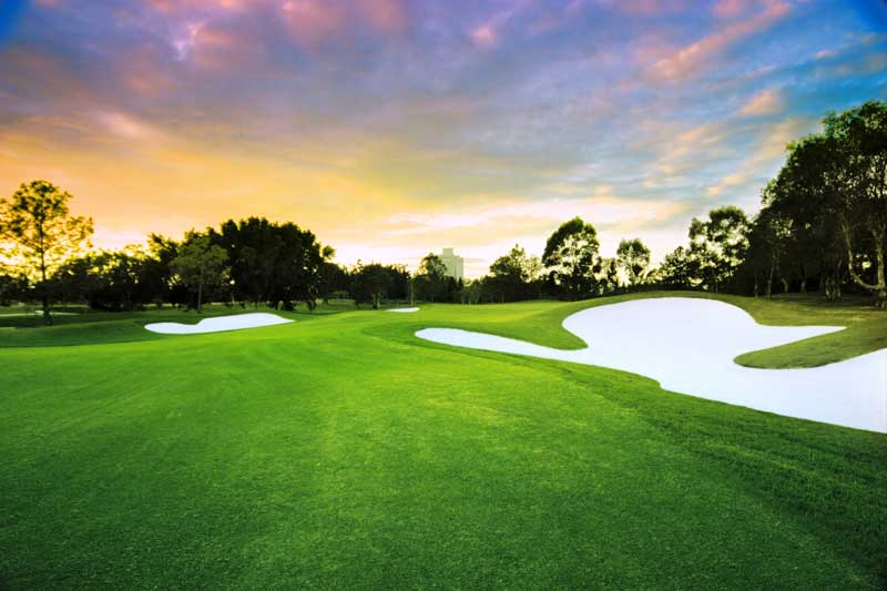 RACV Royal Pines Resort Blue Course at Sunset